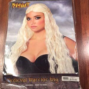 New medieval Warrior wig Halloween costume